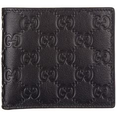 ce95f428ac6 Gucci Men s Wallet Leather Coin Case Holder Purse Card Bifold Signature  Blac for sale online