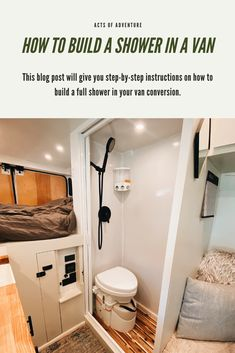 Building a DIY Wet Bath and Shower in a Promaster Van Conversion Van Conversion Bathroom, Van Conversion Layout, Cargo Van Conversion, Diy Van Conversions, Van Conversion Interior, Camper Van Conversion Diy, Van Conversion With Toilet, Enclosed Trailer Camper Conversion, Motorhome Conversions