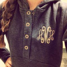 Monogrammed hoodie from @Marley Medema Medema Medema Lilly
