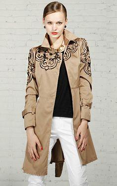 Охота за красотой  пальто с декоративной вышивкой и интересными вариантами  отделки - Ярмарка Мастеров - ручная работа, handmade b289f0c8458