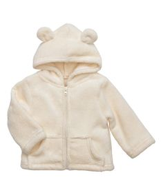 Look at this Elegant Baby Cream Zip-Up Hoodie on #zulily today!