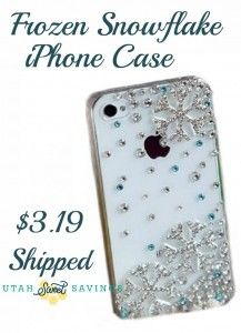 Utah Sweet Savings: Frozen Snowflake iPhone 4/4s Case $3.19 Shipped!  #frozen