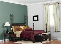 Possible bedroom. This is the project I created on Behr.com. I used these colors: LUNAR SURFACE(N460-3),DARK COBALT BLUE(PPU15-03),PINE BROOK(S420-6),TINSMITH(BL-W11),