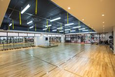 Econogrid and Black Tile as well as JUMBO Board used for ceilings at Virgin Active Ballito supplied by Pelican Systems