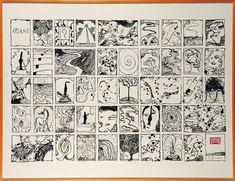 PIERRE ALECHINSKY Résumé, 1995 Lithographie Signée et numérotée 14/30 en