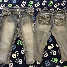 Maurices's size 14 capris Only worn a few times! Size 14 Maurice's capris. Cute embellishments. Maurices Jeans Ankle & Cropped
