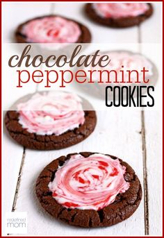 The perfect combination...chocolate and peppermint. This chocolate peppermint cookies recipe is bound to be a hit for the upcoming holidays. Don't let it's prettiness fool you...they are also super easy to make. BONUS...it also freezes really well.