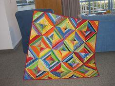 Rainbow Nation String Quilt by Koshka2, via Flickr