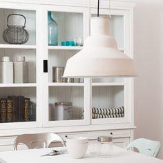 Lampadario bianco stile industriale in metallo D 40 cm LOCTUDY by Maisons du Monde