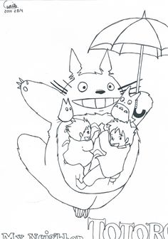 totoro simple coloring pages free to print - Totoro Coloring Pages