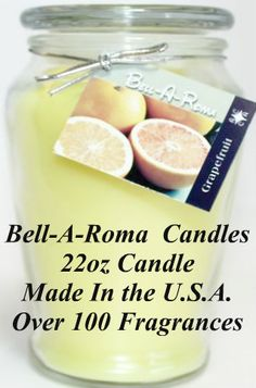 Made in the U.S.A. Less expensive than the large corporate brand names. [bellaromacandle.com]
