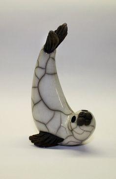 petite plongée & joint tournant en céramique raku cuite sculpture faite main Plus