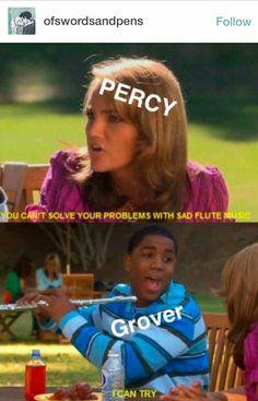 Percy and Grover Percy Jackson Fandom, Percy Jackson Characters, Percy Jackson Fan Art, Percy Jackson Memes, Percy Jackson Books, Grover Percy Jackson, Apollo Percy Jackson, Rick Riordan Series, Rick Riordan Books