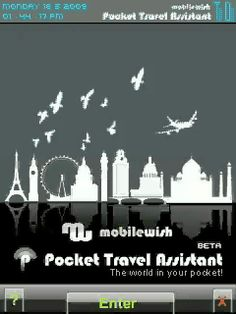 Pocket Travel Assistant (PTA) is a Freeware for Flash Lite 3x enabled mobiles that offers one stop solution for all the information needs by a traveller.   Name any major city/town in the world and PTA will provide every possible information for that place which will be needed by a traveler.