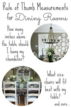 It's no fun to always play bythe rules when decorating, but I have severaltried and true measurements that I referback to again and again to help pull a room together. I've already shared my must-have measurements for hanging art and my tips for decorating living rooms and now we're moving on to dining rooms. So... Read More