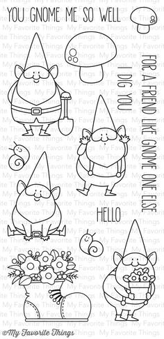 My Favorite Things Clear Stamps - You Gnome Me - My Favourite Things Doodles, Montage Photo, Mft Stamps, Clear Stamps, Doodle Art, Embroidery Patterns, Bullet Journal, Card Making, Paper Crafts