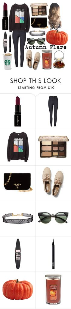 """""""Autumn wishes"""" by jessielatte ❤ liked on Polyvore featuring Smashbox, Too Faced Cosmetics, Prada, Keds, Humble Chic, ZeroUV, Maybelline, NARS Cosmetics and Yankee Candle"""
