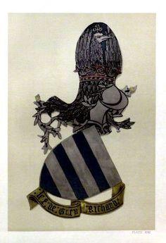 Garter stall plate of Richard de Grey, 1st Baron Grey (of Codnor), KG.