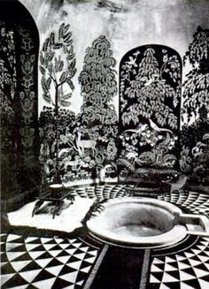 Bathroom for the Duchess of Alba, Liria Palace, Madrid 1925 by Rateau