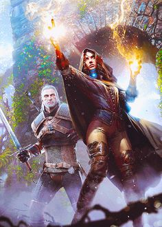 Geralt and Yennefer in the newest issue of Gamereactor (x)