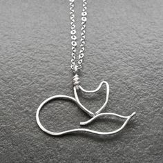 Fox Necklace - Silver Wire Fox Pendant, Fox Charm - Foxy  ✤ Description ✤ I handcrafted this adorable fox with silver filled wire, forging and