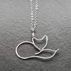 Halskette, Silberdraht Fox Anhänger Fuchs. Diese liebenswert liebenswert und verspielt-Kette ist das perfekte Geschenk für den Tierfreund in Ihrem