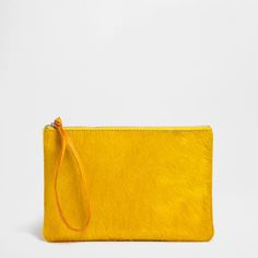 $59.90 Yellow Leather Sponge Bag - Accessories - Bathroom | Zara Home United States