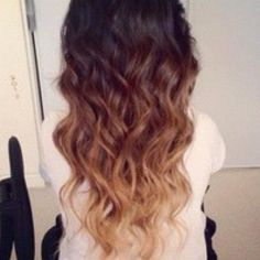 I like the colors in the middle section (the dark brown to the reddish brown colors) for ombre style on my shorter hair, but if I had long hair, I would most likely do it exactly like this.