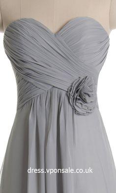 Orange Sweetheart Neck Long Bridesmaid Dress VPBN772
