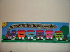 DECORACIONES INFANTILES THE TEACHER:    EL TREN DE LOS BUENOS MODALES