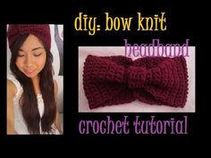 DIY: Bow Knit Headband Crochet Tutorial