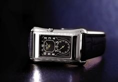 The Black Pearl. Period style gentleman's wristwatch