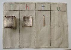 lovely DIY golden bead mat