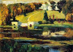 Akhtyrka (1901) Wassily Kandinsky    Os arredores de Moscou sempre emocionaram e elevaram os sentimentos de Kandinsky.  Ele gostava muito de Akhtyrka, onde moravam seus parentes. A paisagem, foi pintada a partir do cenário natural de Akhtyrka, perto de Moscou.  Kandinsky morou numa casa de campo nessa região no começo dos anos 1900 e em 1917,após a volta da Alemanha para a Rússia.   No pós-impressionismo do quadro, têm maior expressividade a cor e a plástica da pincelada, que se sobrepõem ao…