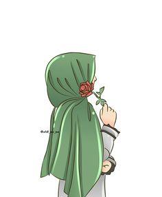 Illustrations And Posters Cute Cartoon Girl, Cartoon Art, Hijab Drawing, Islamic Cartoon, Anime Muslim, Hijab Cartoon, Islamic Girl, Cute Cartoon Wallpapers, Illustrations And Posters
