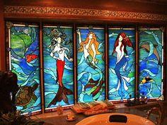 Mermaids - bathroom wall -lotto winnings needed for funding....