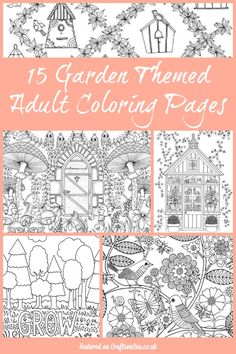 15 Free Garden Themed Adult Coloring Pages