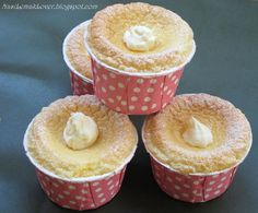 Hokkaido Chiffon cupcakes! Instructions are in English, but measurements are metric!