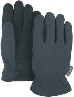 Majestic 1665 Black Deerskin Split Leather Driver Gloves Heatlok Lined