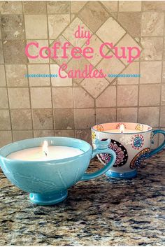 DIY Coffee Cup Candles would make a great homemade Mother's Day gift! So easy to make and you can do your own scent too!