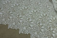 Guipure Lace - Star Pattern - Ivory