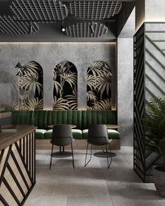Coffee Shop Interior Design, Coffee Shop Design, Commercial Interior Design, Interior Design Inspiration, Interior Design Themes, Design Bar Restaurant, Deco Restaurant, Modern Restaurant, Pizza Restaurant