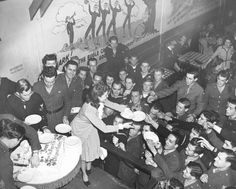 Joan Leslie Hands Out Slices Of Her Birthday Cake At The Hollywood Canteen