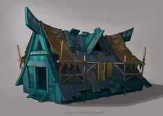 Blue House by Catell-Ruz.deviantart.com on @deviantART