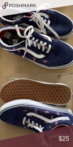 2e514331ff Like new Vans shoes for the Red Sox fan Red Sox Vans barely worn. Size 4.5 Vans  Shoes Sneakers