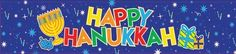 Happy Hanukkah Foil Banner