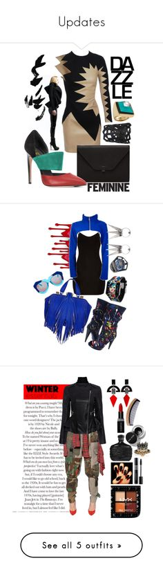 """Updates"" by bettyboopbbw69 ❤ liked on Polyvore featuring David Koma, Valextra, NOVICA, Marc by Marc Jacobs, 01 The One, Cyberdog, Alexander McQueen, DANNIJO, The Volon and Karen Walker"