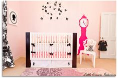 Project Nursery - hot pink baby nursery