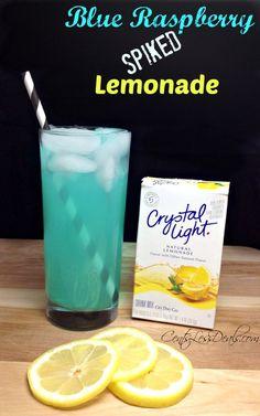 Spiked Blue Raspberry Lemonade recipe