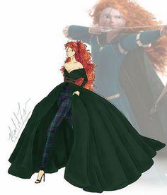 La version moderne de la robe de Merida